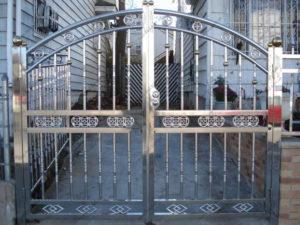 Ворота из нержавейки №2