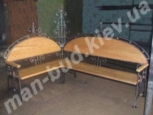 Кованые скамейки фото №17