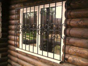 Кованые решетки на окна фото №80