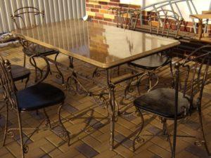 Кованые столы и стулья фото №37