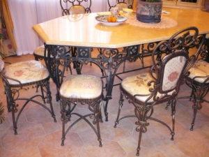 Кованые столы и стулья фото №38