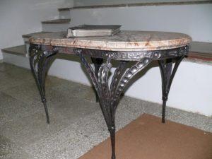 Кованые столы и стулья фото №39
