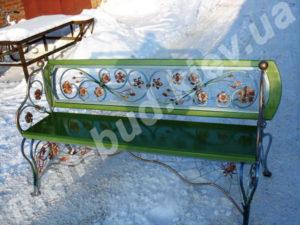 Кованые скамейки фото №21