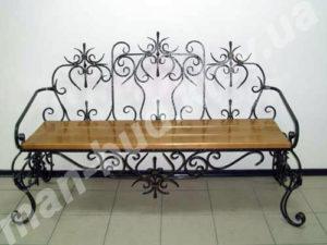 Кованые скамейки фото №22