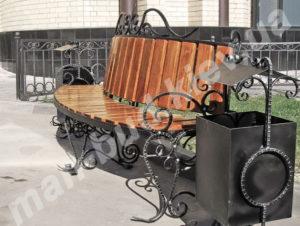 Кованые скамейки фото №23