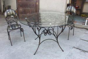 Кованые столы и стулья фото №43