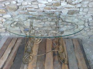 Кованые столы и стулья фото №44