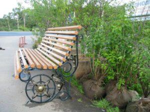 Кованые скамейки фото №26