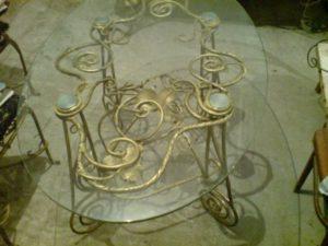 Кованые столы и стулья фото №45