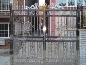 Ворота из нержавейки №3