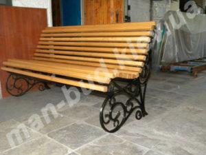 Кованые скамейки фото №27
