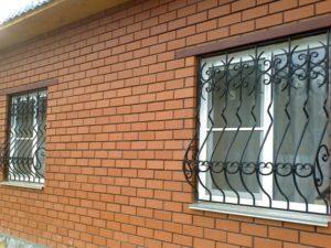 Кованые решетки на окна фото №70