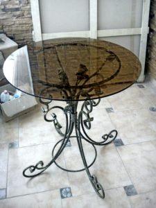 Кованые столы и стулья фото №28