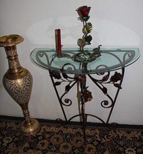 Кованые столы и стулья фото №54
