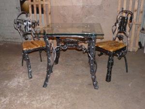 Кованые столы и стулья фото №12