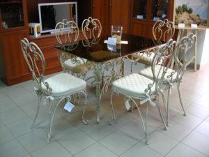 Кованые столы и стулья фото №9