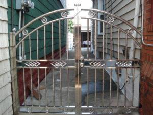 Ворота из нержавейки №4