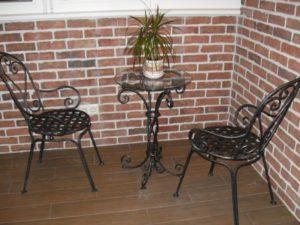 Кованые столы и стулья фото №14