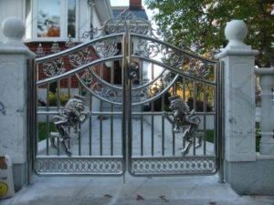 Ворота из нержавейки №10