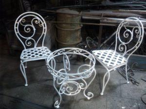 Кованые столы и стулья фото №16
