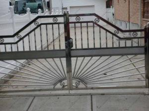 Ворота из нержавейки №11