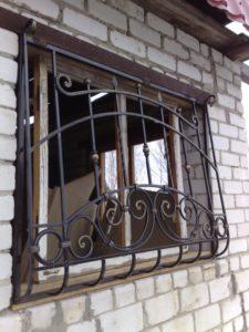 Кованые решетки на окна фото №4