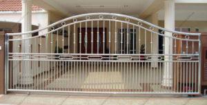Ворота из нержавейки №5