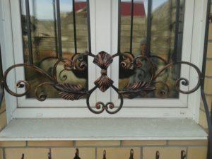 Кованые решетки на окна фото №44