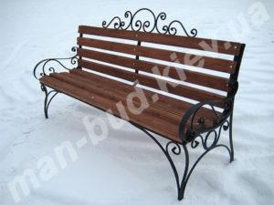 Кованые скамейки фото №5