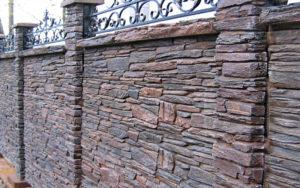 Заборы из камня, фото №7
