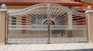 Ворота из нержавейки №6