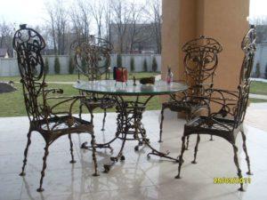 Кованые столы и стулья фото №19