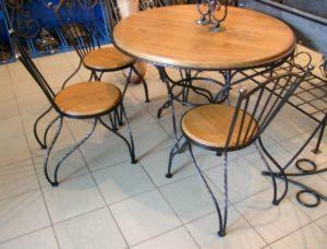 Кованые столы и стулья фото №1