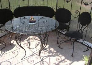 Кованые столы и стулья фото №2