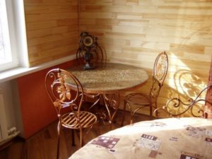 Кованые столы и стулья фото №49