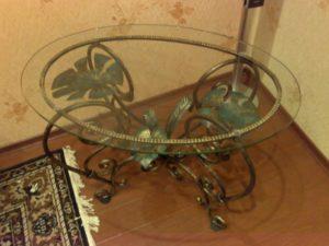 Кованые столы и стулья фото №51