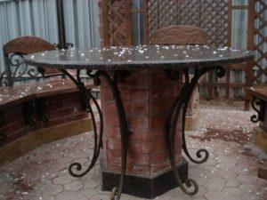 Кованые столы и стулья фото №53
