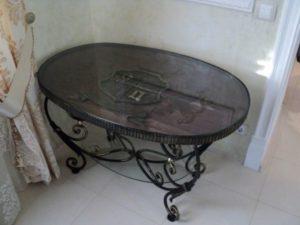 Кованые столы и стулья фото №52