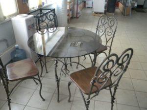 Кованые столы и стулья фото №50