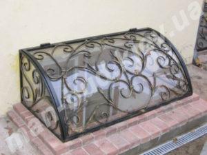 Кованые решетки на окна фото №40