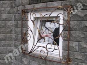 Кованые решетки на окна фото №10