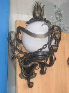 Кованые светильники фото №1