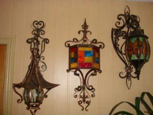 Кованые светильники фото №12