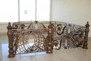 Кованые перила в стиле барокко №2