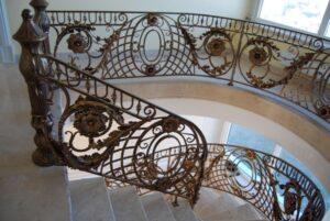 Кованые перила в стиле барокко №1