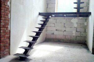 Чистовой металлокаркас для открытых лестниц