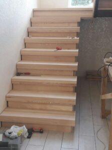 Подгонка деревянных элементов лестниц