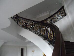 Кованые перила в стиле барокко №18