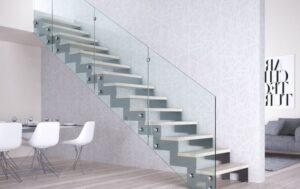 Металлическая лестница на косоурах, фото №1
