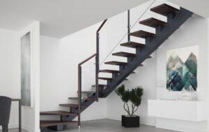 Металлические лестницы на одном косоуре, фото №15
